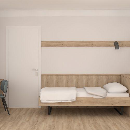 Villa Flöckner Salzburg Dreibettzimmer Einzelbett Zimmer-8