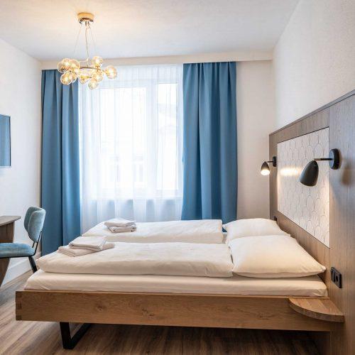 Villa Flöckner Salzburg - Hotel Doppelbett (2)