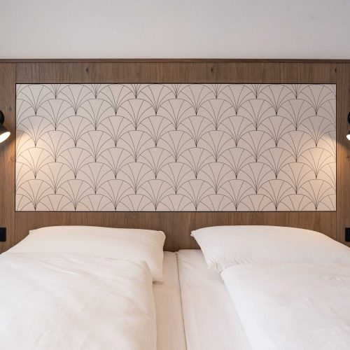 Villa Flöckner Salzburg - Hotel Doppelbett nah