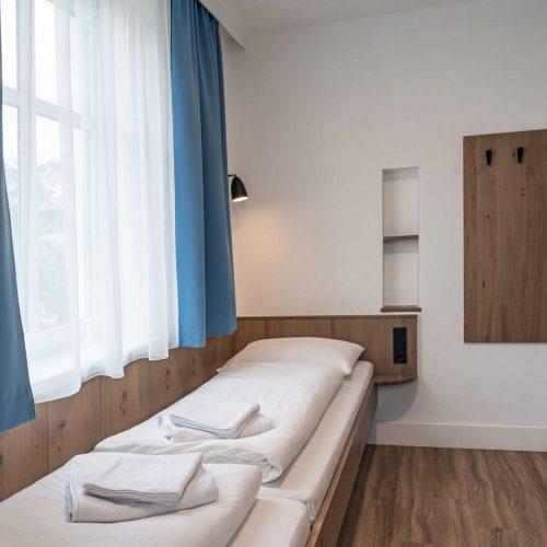 Villa Flöckner Salzburg - Hotel Zweibettzimmer Betten